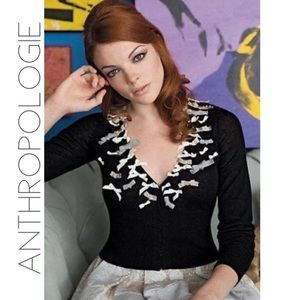 Anthropologie Knitted & Knotted bow cardigan M